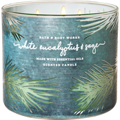 Bath & Body Works Nordic Critters: 3 Wick Candle White Eucalyptus and Sage