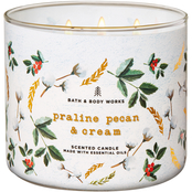 Bath & Body Works Transport Nordic: Praline Pecan and Cream 3 Wick Candle