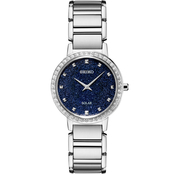 Seiko Women's Crystal Stainless Steel Watch SUP433