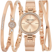 Anne Klein Women's Swarovski Crystal Accented Watch and Bangle Set AK/3368