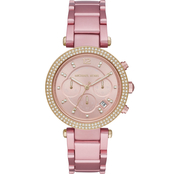 Michael Kors Women's Parker Chronograph Pink Aluminum Watch