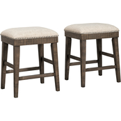 Signature Design by Ashley Wyndahl Upholstered Counter Stool 2 pk.