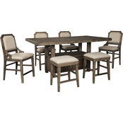 Signature Design by Ashley Wyndahl 7 pc. Counter Dining Set with Mixed Stools