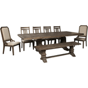 Signature Design by Ashley Wyndahl 8 pc. Dining Set with 2 Arm Chairs and Bench