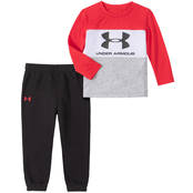 Under Armour Infant Boys Colorblocked 2 pc. Shirt and Pants Set