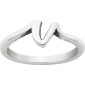 James Avery Script Initial V Ring