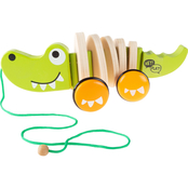 Hey! Play! Old Fashioned Wooden Alligator Pull Toy