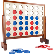 Hey! Play! 4 In A Row Giant Classic Wooden Lawn Game