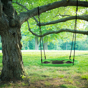 Hey! Play! Hanging Saucer Swing for Tree or Swing Set, 40 in.