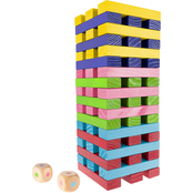 Hey! Play! Giant Wooden Stacking Game with Dice