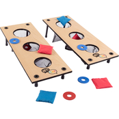 Hey! Play! 2 in 1 Washer Pitching and Beanbag Toss Game Set