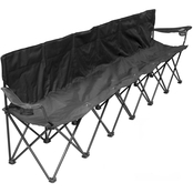 Creative Outdoor 6 Person Folding Bench, Black