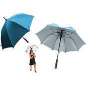 Creative Outdoor Bree-Z-Brella with Built In Fan UV Fabric