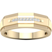 10K Yellow Gold Diamond Accent Ring