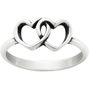 James Avery Sterling Silver Two Hearts Together Ring