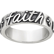 James Avery Sterling Silver Script Faith Hope Love Ring