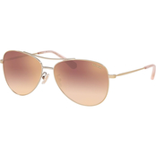 COACH Shiny Light Gold and Rose Gold Gradient Flash Pilot Sunglasses