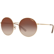 COACH Shiny Light Gold Flash Round Sunglasses 0HC7078900