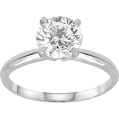 14K White Gold 1 1/2 ct. Diamond Solitaire Ring, Size 7