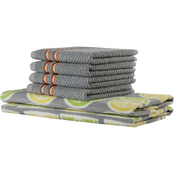 Freshee 6 pc. Assorted Printed Kitchen Towel Set
