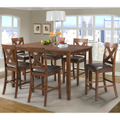 Elements Alex 7 pc. Counter Dining Set