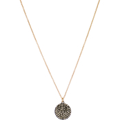 Panacea Hematite Round Coin Drop Necklace
