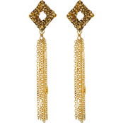 Panacea Lux Square Post Fringe Earrings