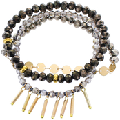 Panacea Hematite Lux Bracelet With Stick Charms