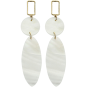 Panacea Mother of Pearl Drop Post Earrings