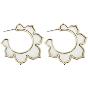 Panacea Mother of Pearl Flower Hoop Earrings