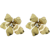 Panacea Metal Flower Post Earrings