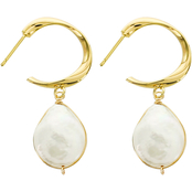 Panacea Pearl Teardrop Mini Hoop Earrings