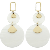 Panacea Mother of Pearl Round Drop Post Earrings