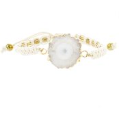 Panacea White Stone Adjustable Pull Bracelet