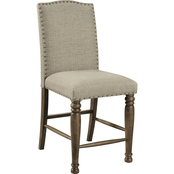 Signature Design by Ashley Lettner Upholstered Counter Stool 2 pk.