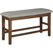 Benchcraft Glennox Upholstered Double Counter Bench