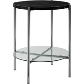 Walker Edison Modern Round Side Table