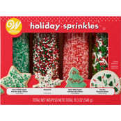 Wilton Traditional Christmas Mega Sprinkle Set, 4 pk.