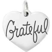 James Avery Sterling Silver Grateful Heart Charm