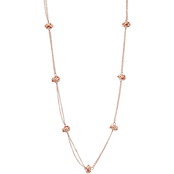 Carol Dauplaise Rose Goldtone Station Love Knot Long Necklace, 33 in.
