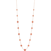 Carol Dauplaise Rose Goldtone Station Round Bead Long Necklace, 42 in.