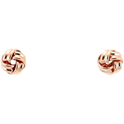Carol Dauplaise Rose Goldtone Love Knot Stud Earrings