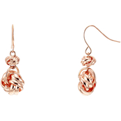 Carol Dauplaise Rose Goldtone Love Knot Double Drop Earrings