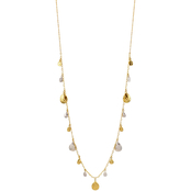 Carol Dauplaise Two Tone Drops Long Necklace 34 in.