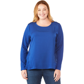 Michael Kors Plus Size Woven Combo Top