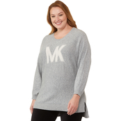 Michael Kors Plus Size Dolman High Low Sweater