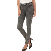 Michael Kors Acid Wash High Waisted Skinny Jeans