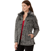 Michael Kors Acid Wash Boyfriend Denim Jacket