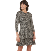 Michael Kors Flat Cat Print Double Tier Dress