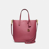 COACH Tall Calf Leather Central Tote
